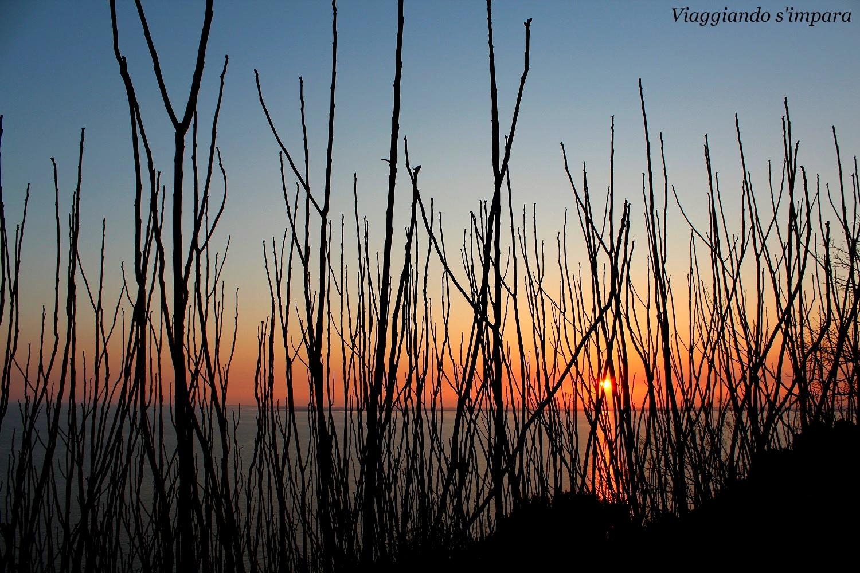 tramonto duino trieste